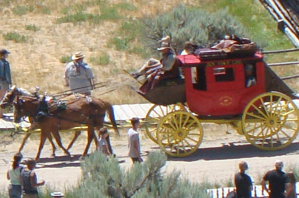 Participate in an historical re-enactment presented by Zion Stage Line
