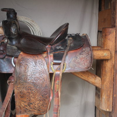 Saddle Rack with Saddle Manufactured by Zion Stage Line